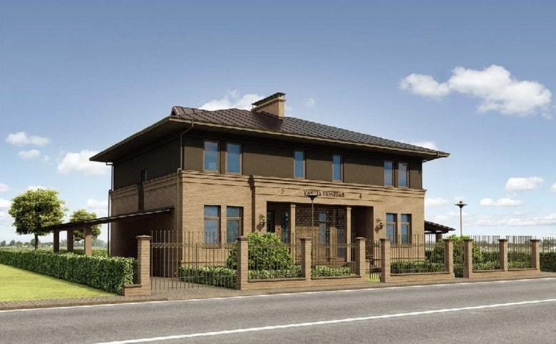 Het huis is voor twee generaties. huis met verschillende ingangen